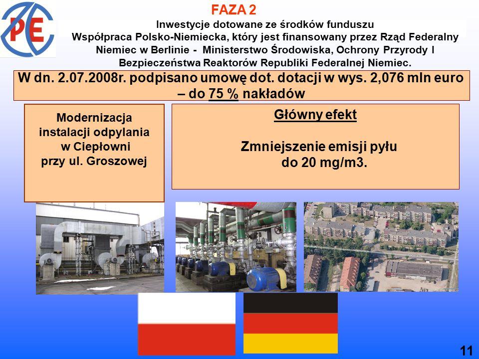 Modernizacja instalacji odpylania w Ciepłowni przy ul.