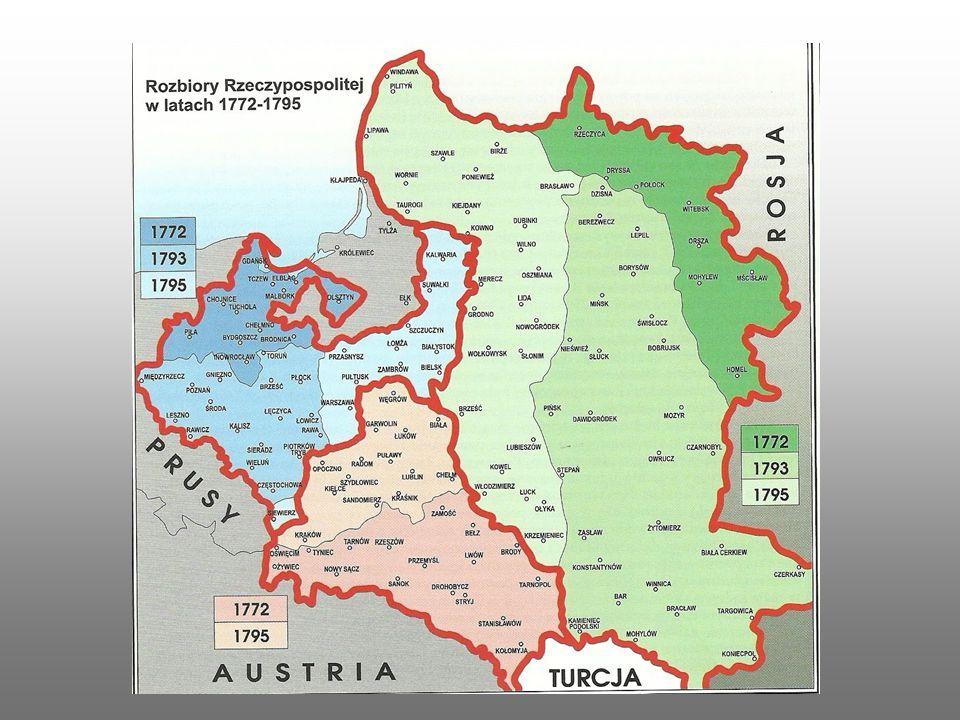 Kraje te podzieliły się polskimi ziemiami i starały – szczególnie Rosja i Niemcy- by już nigdy na tych mapach się nie pojawiła.