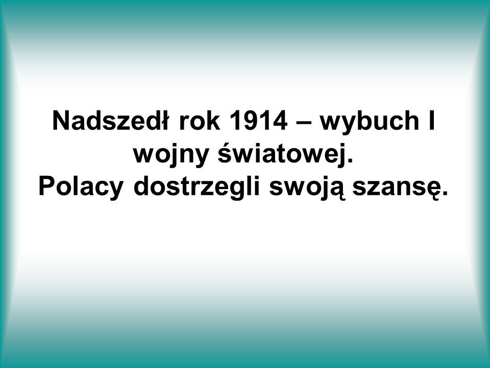 Nadszedł rok 1914 – wybuch I wojny światowej. Polacy dostrzegli swoją szansę.