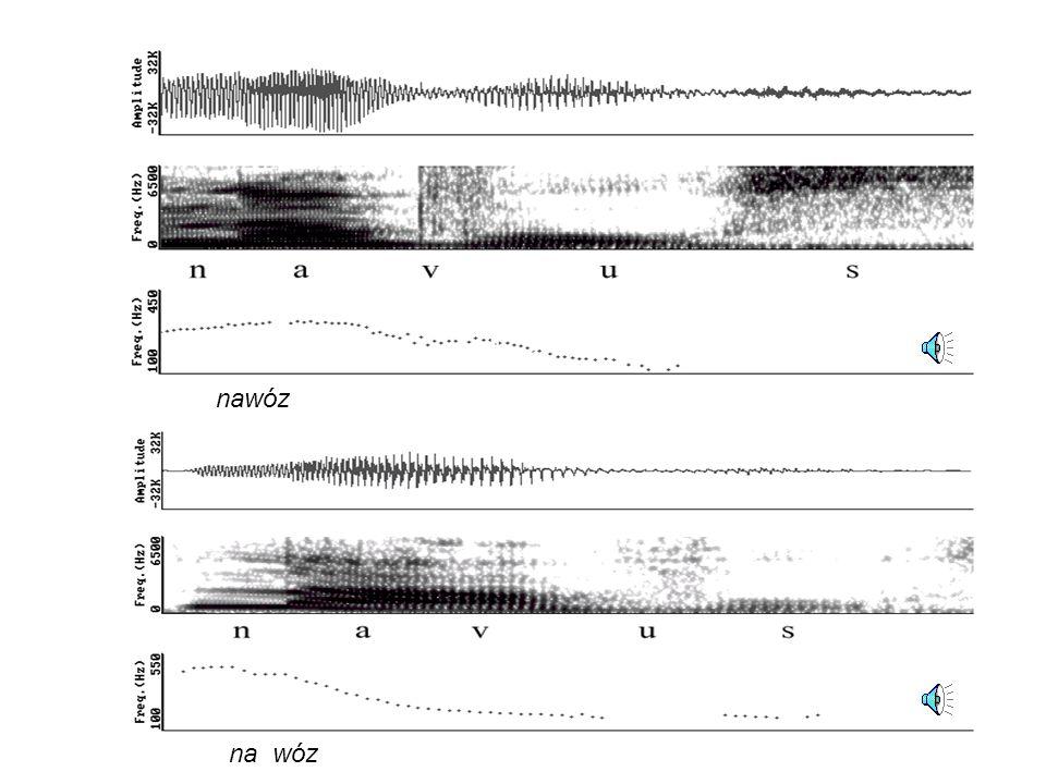 Semantyka intonacji Analiza intonacji Prozodia w semantyce – semantyka w prozodii Przebieg częstotliwości podstawowej w wypowiedzi ja jem.