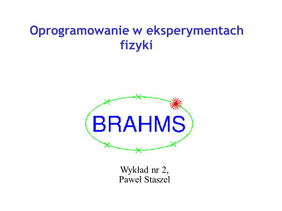 Oprogramowanie w eksperymentach fizyki Wykład nr 2, Paweł Staszel