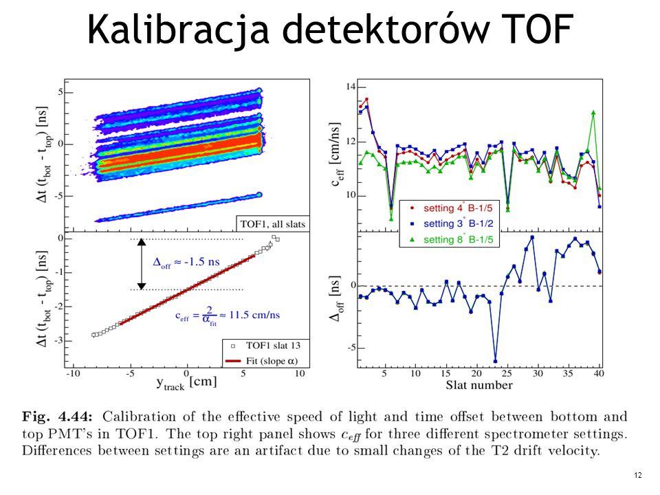 12 Kalibracja detektorów TOF