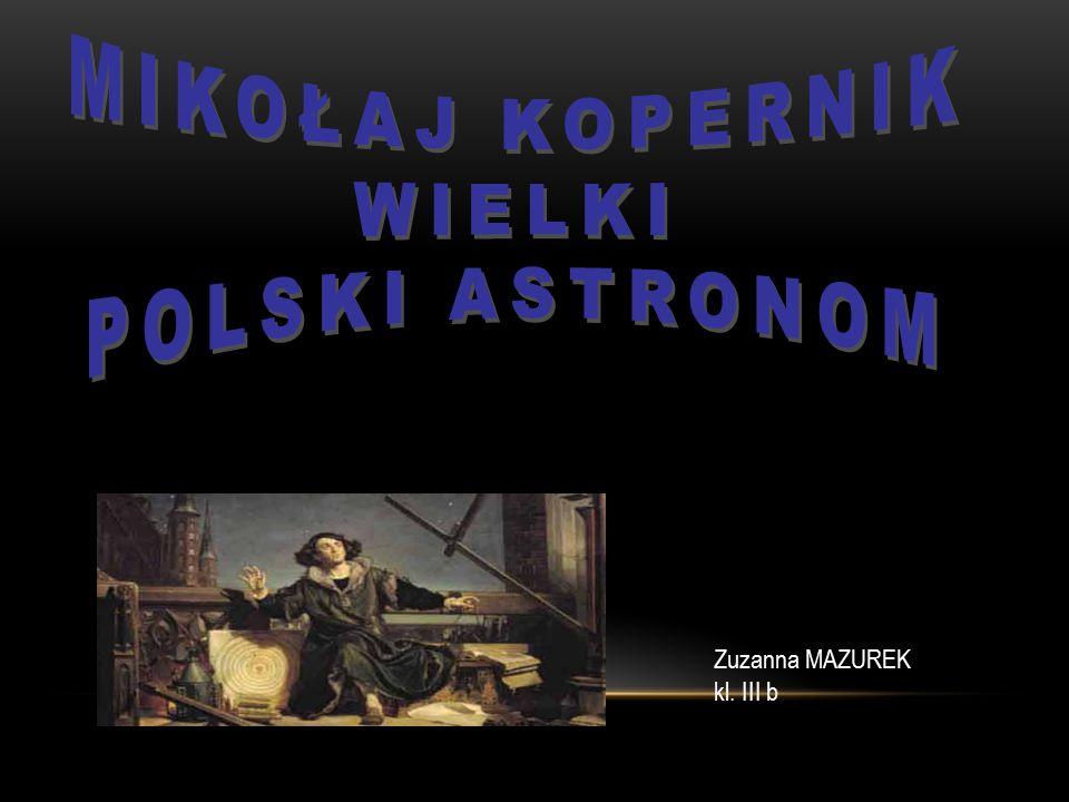 Zuzanna MAZUREK kl. III b