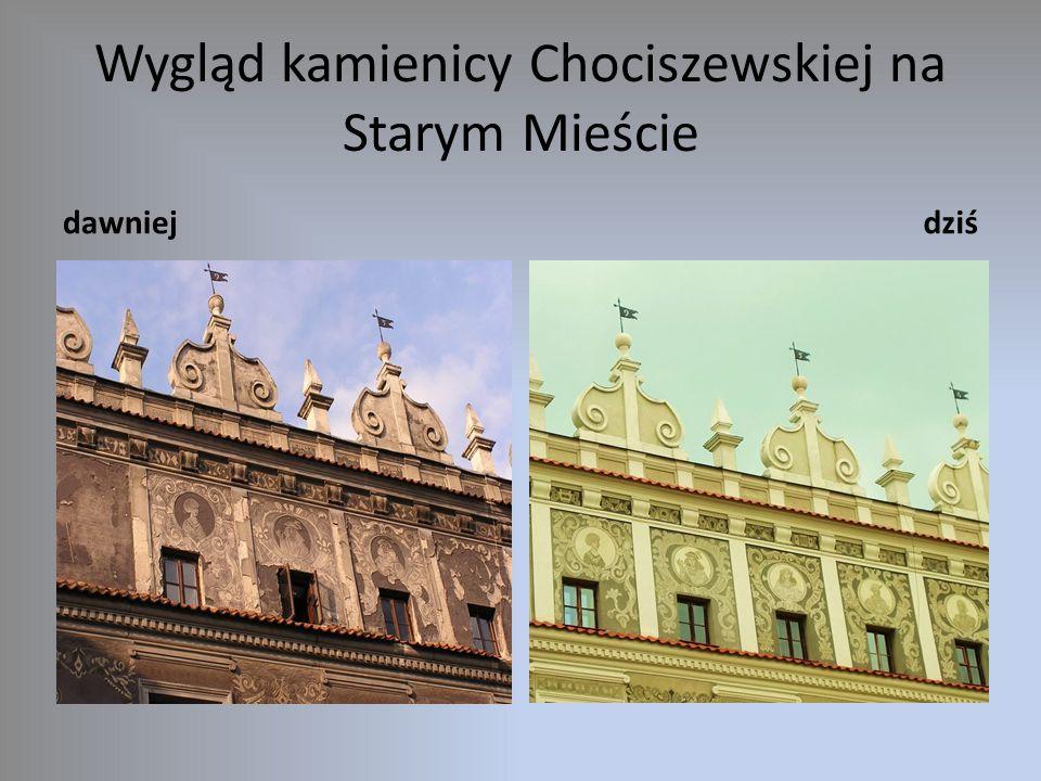 Wygląd kamienicy Chociszewskiej na Starym Mieście dawniejdziś