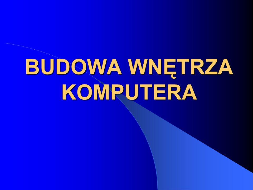 BUDOWA WNĘTRZA KOMPUTERA