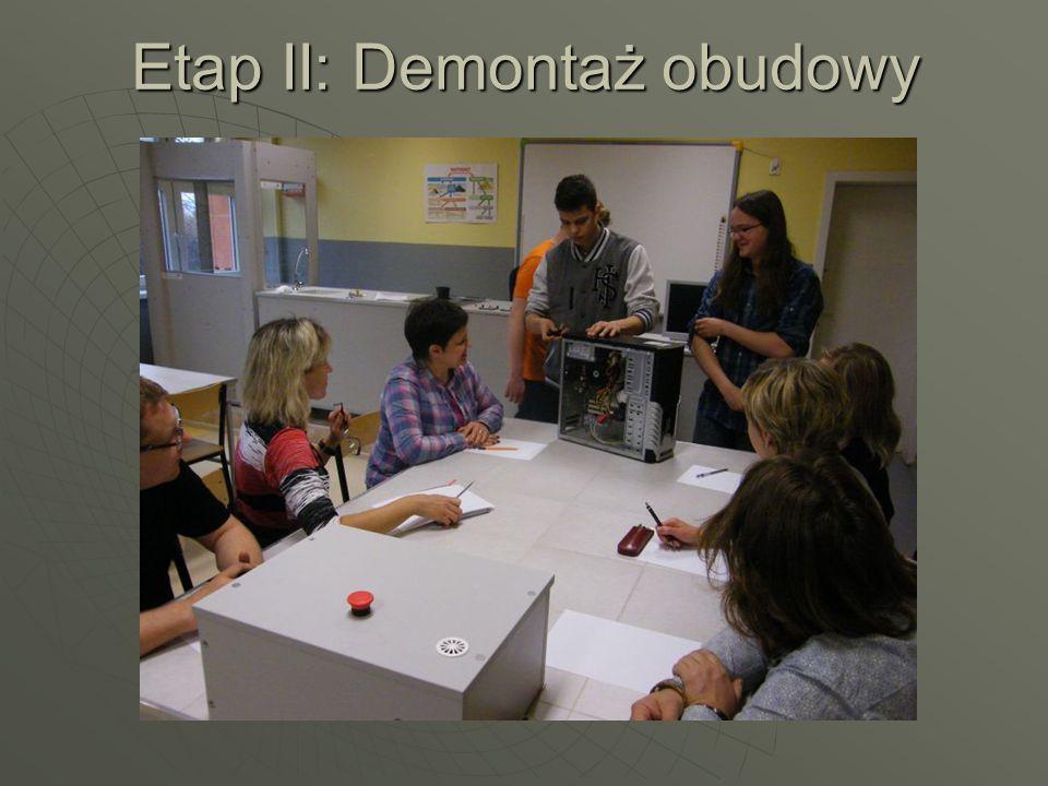 Etap III: Odkręcenie dysku twardego i omówienie zasady działania