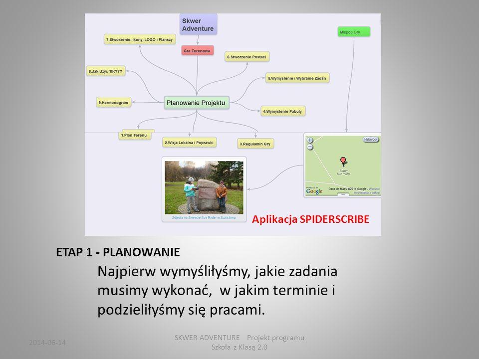2014-06-14 SKWER ADVENTURE Projekt programu Szkoła z Klasą 2.0 Gracze uzupełniają informacje O Sue Ryder, honorowej obywatelce Gdyni.
