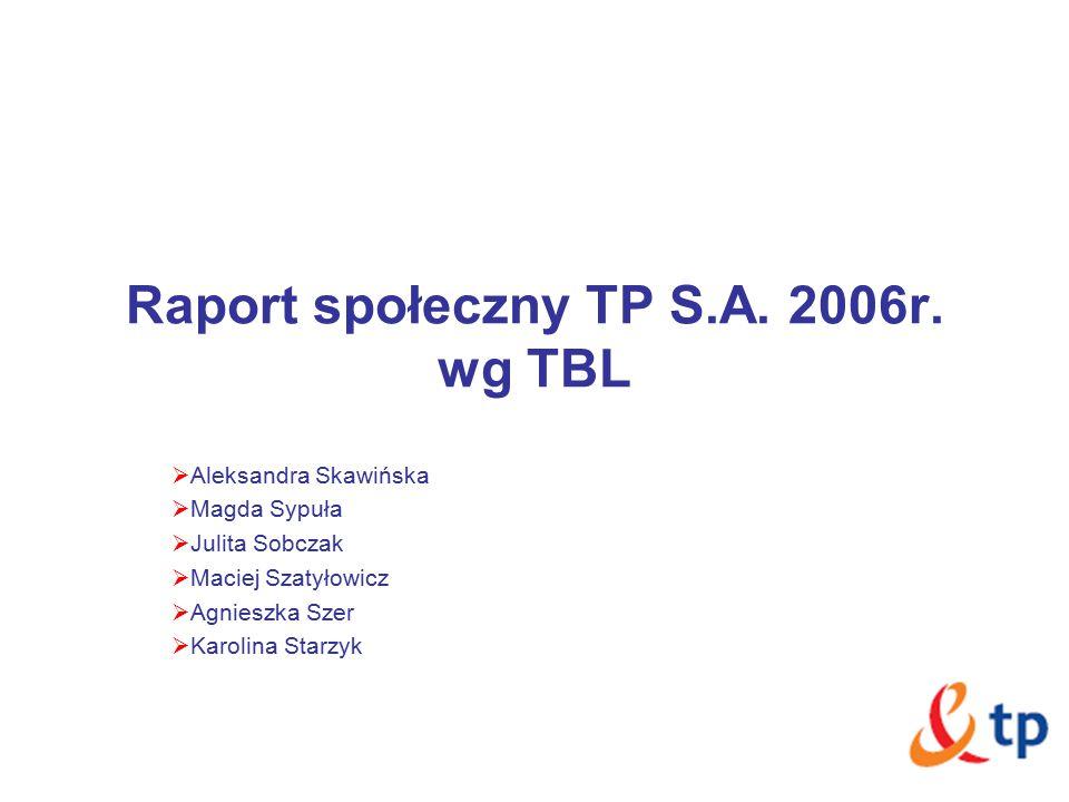 Raport społeczny TP S.A. 2006r.