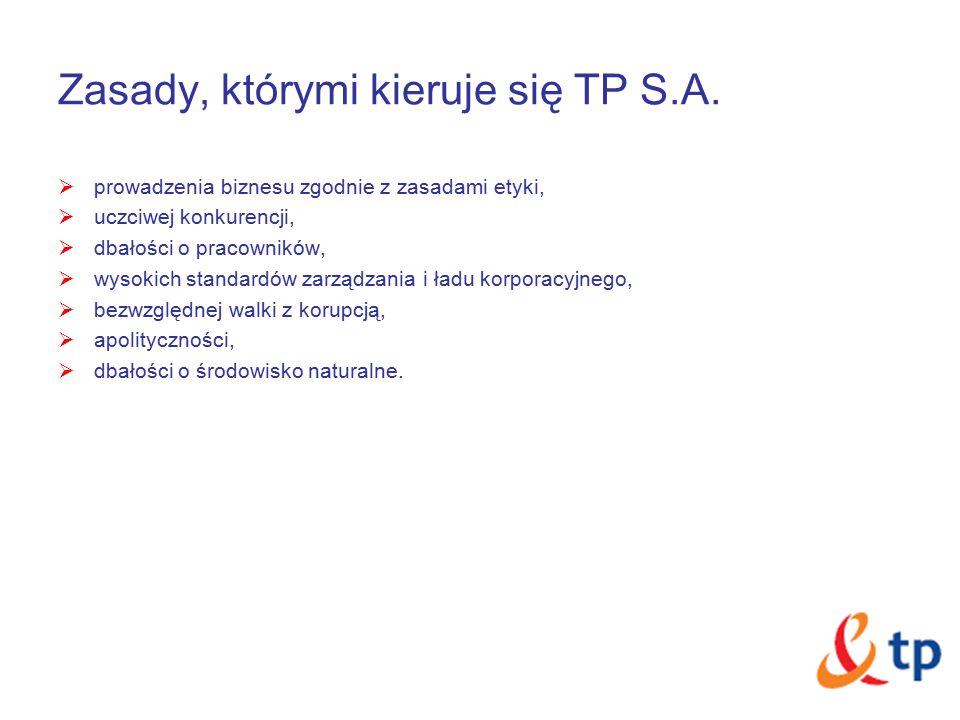 Zasady, którymi kieruje się TP S.A.