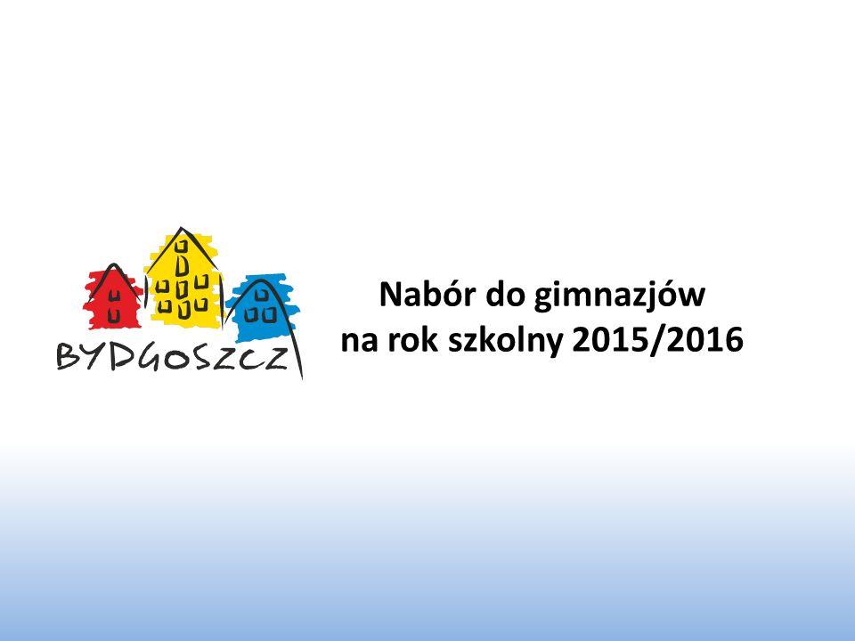 Nabór do gimnazjów na rok szkolny 2015/2016