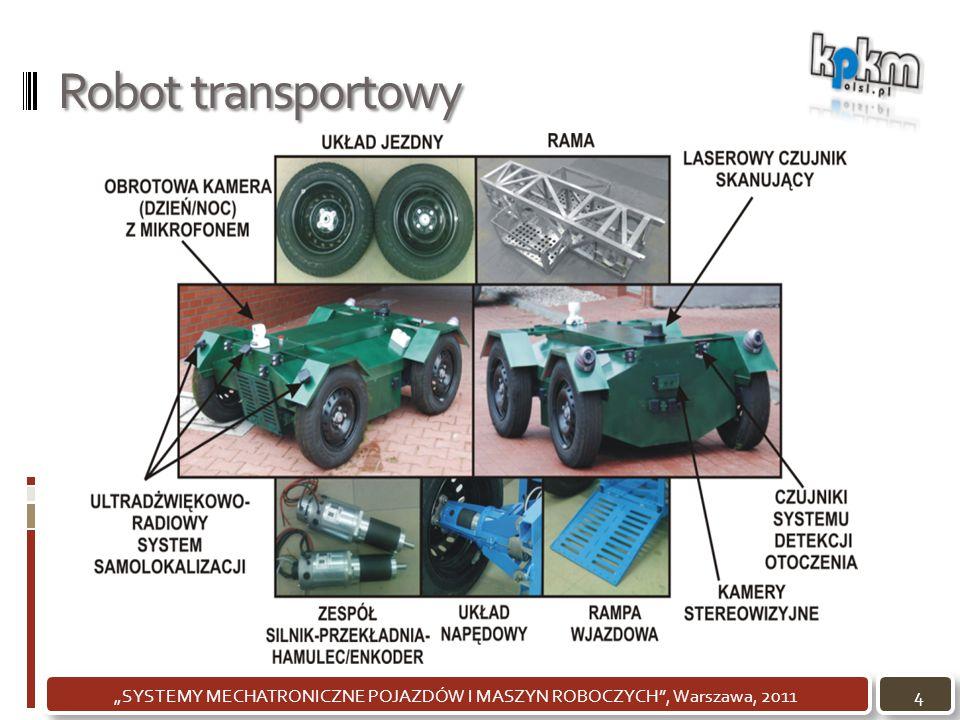 """Robot transportowy 4""""SYSTEMY MECHATRONICZNE POJAZDÓW I MASZYN ROBOCZYCH"""", Warszawa, 2011"""