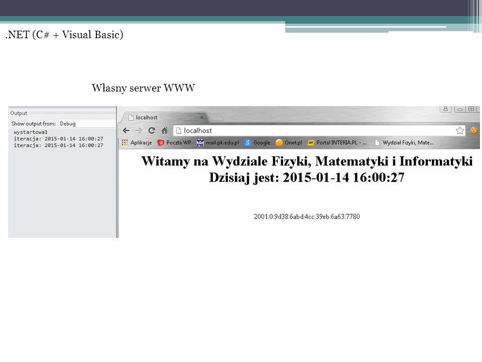 .NET (C# + Visual Basic) Własny serwer WWW