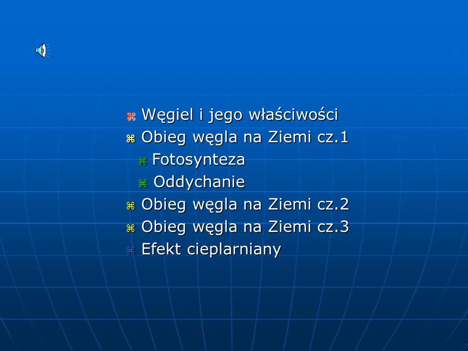 Obieg węgla na Ziemi KRYSTIAN MIAZIO III M MICHAŁ SZCZYPTAŃSKI - nauczyciel geografii Gimnazjum nr 24 przy III LO w Gdyni