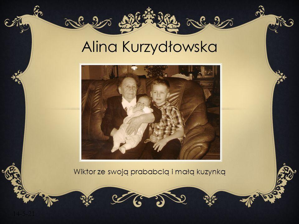 14-5-21 Alina Kurzydłowska Wiktor ze swoją prababcią i małą kuzynką