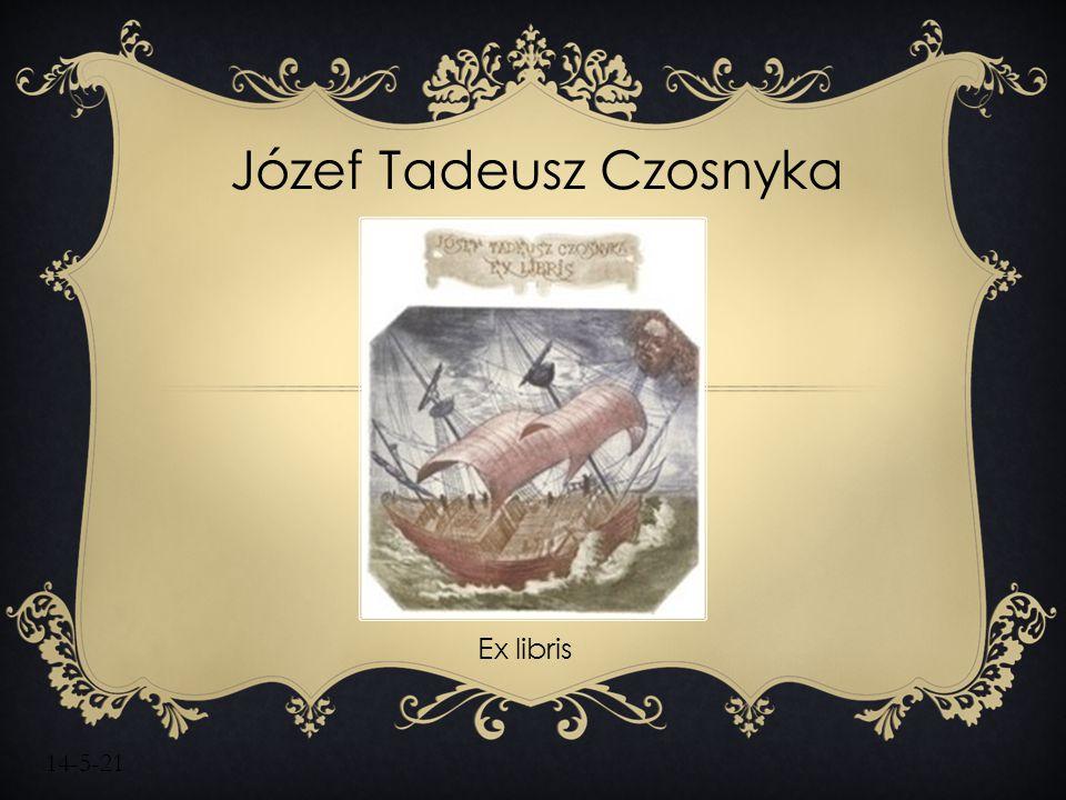 14-5-21 Józef Tadeusz Czosnyka Ex libris
