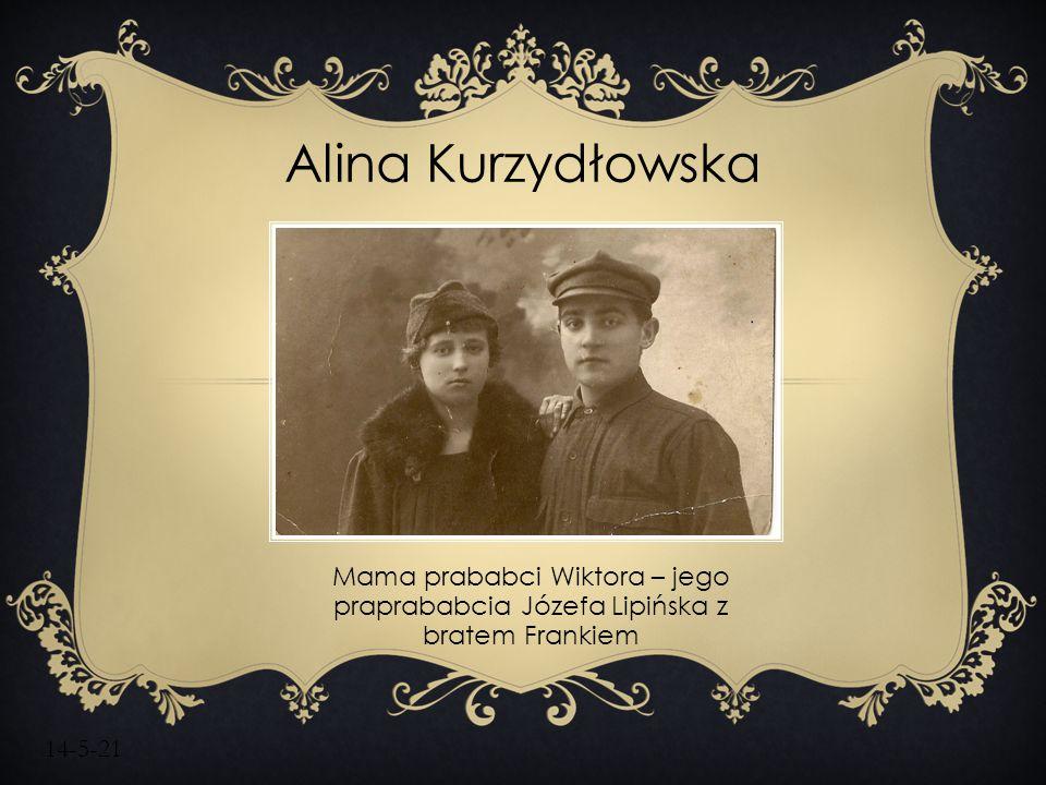 14-5-21 Mama prababci Wiktora – jego praprababcia Józefa Lipińska z bratem Frankiem Alina Kurzydłowska