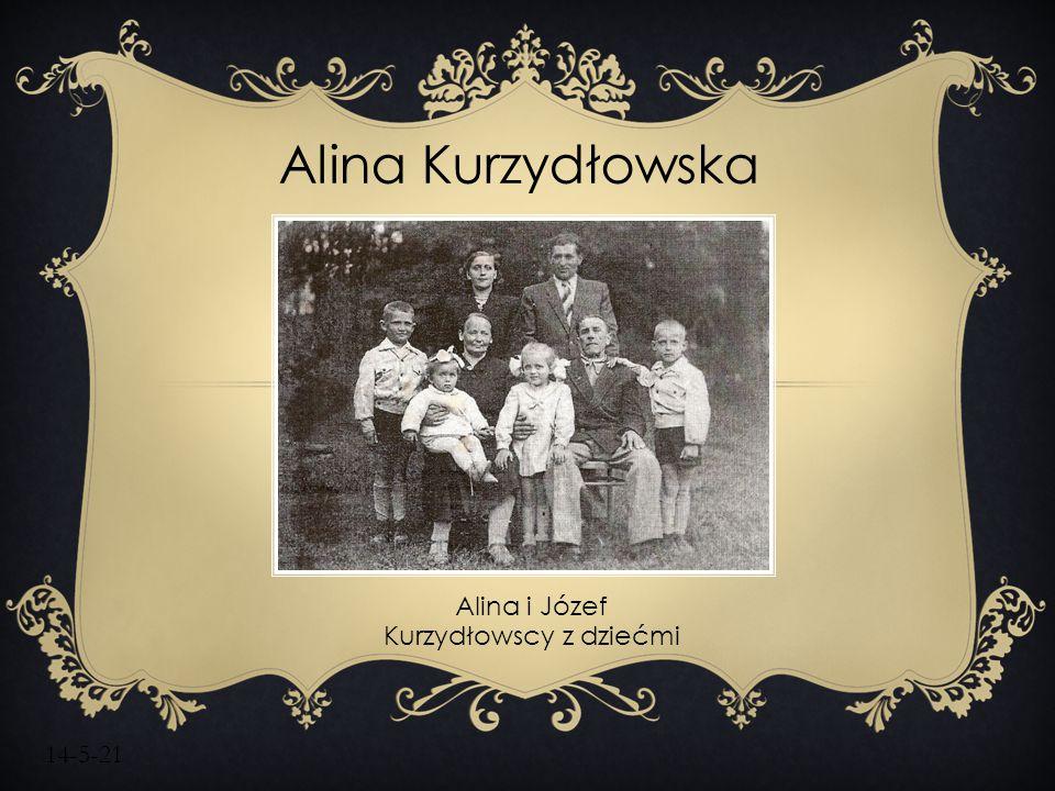 14-5-21 Alina Kurzydłowska Alina i Józef Kurzydłowscy z dziećmi