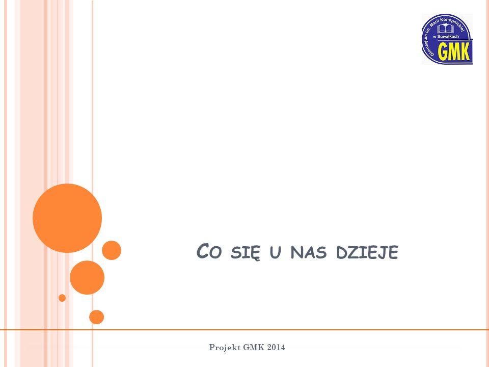 C O SIĘ U NAS DZIEJE Projekt GMK 2014