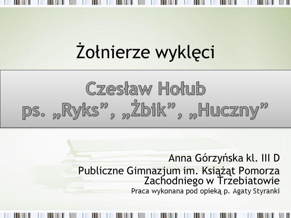 Anna Górzyńska kl.III D Publiczne Gimnazjum im.