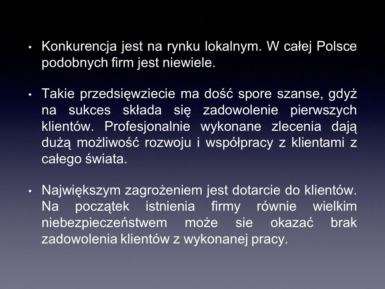 Konkurencja jest na rynku lokalnym. W całej Polsce podobnych firm jest niewiele.