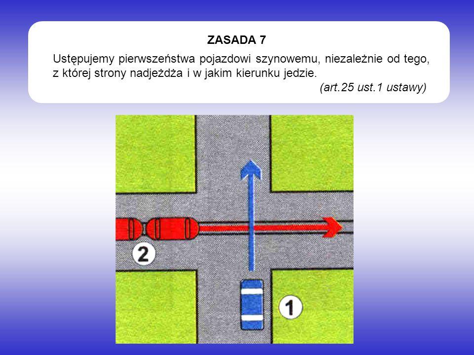 Ustępujemy pierwszeństwa pojazdowi szynowemu, niezależnie od tego, z której strony nadjeżdża i w jakim kierunku jedzie.