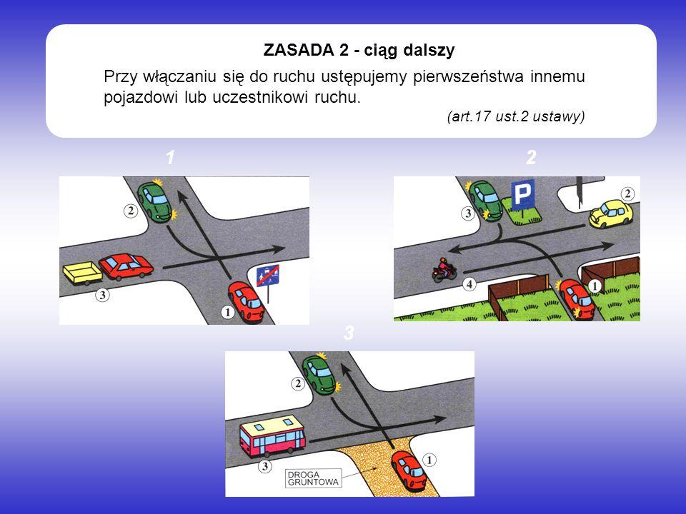 Ułatwiamy przejazd pojazdowi uprzywilejowanemu, niezależnie od tego, z której strony nadjeżdża i w jakim kierunku jedzie.