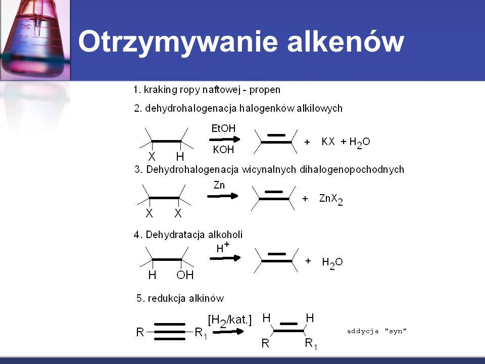 Otrzymywanie alkenów