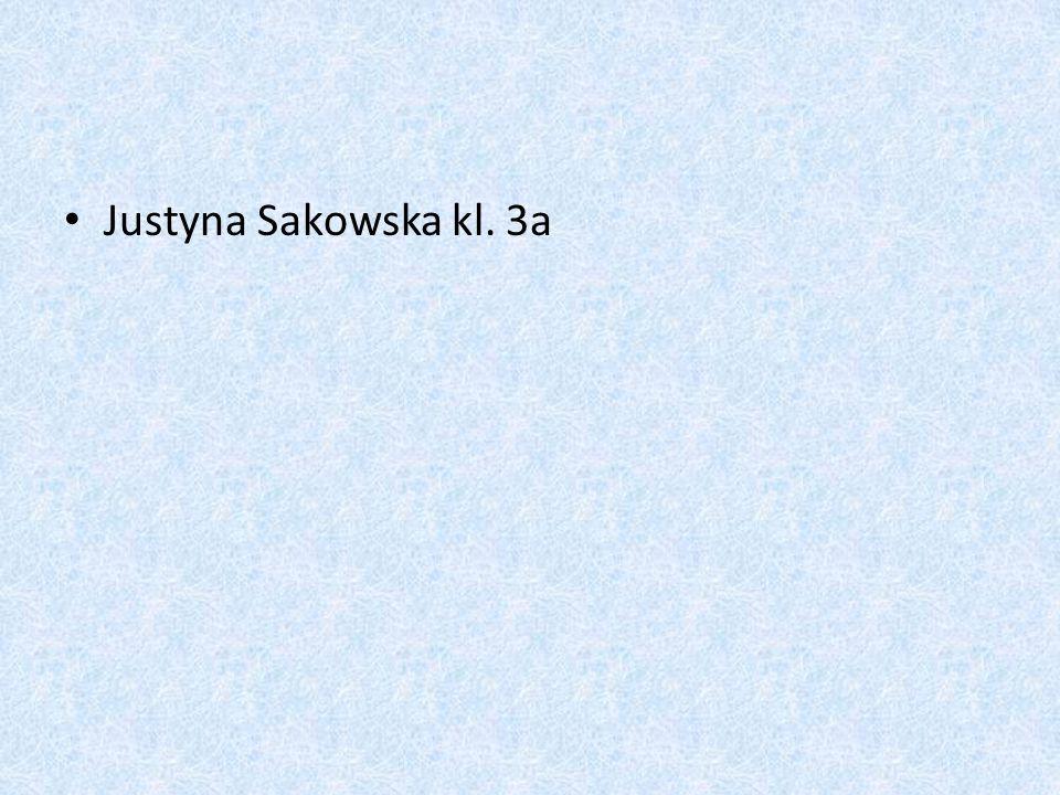 Justyna Sakowska kl. 3a