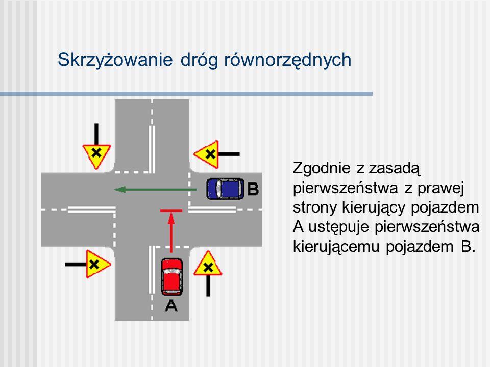 W dalszej części prezentacji zamieszczono ćwiczenia Ustal i uzasadnij kolejność przejazdu pojazdów na skrzyżowaniu Po kliknięciu myszą na ekranie ukaż