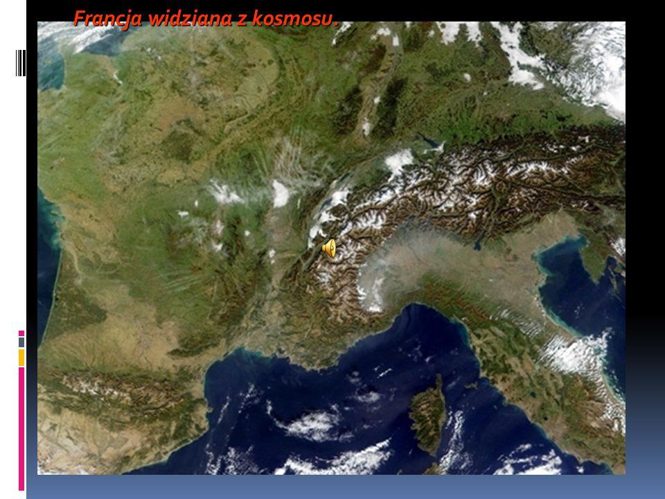 Francja widziana z kosmosu.
