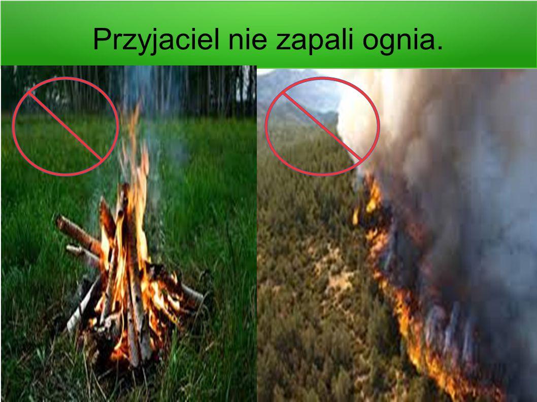 Przyjaciel nie zapali ognia.