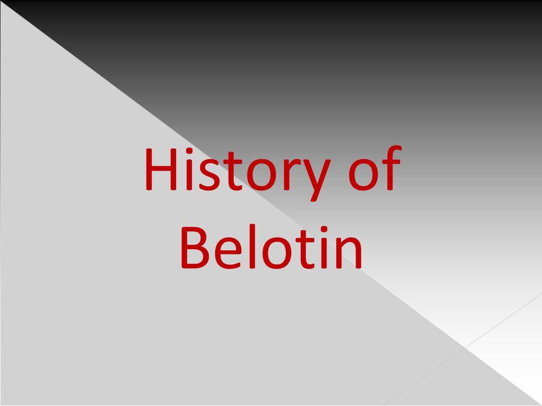 History of Belotin