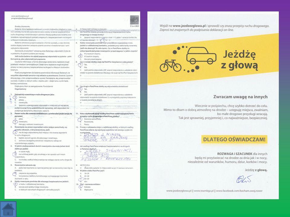 Nagrody Za wypełnienie ankiety i podpisanie deklaracji uczestnicy otrzymywali od nas małe upominki.