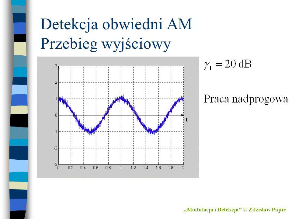 """Detekcja obwiedni AM Przebieg wyjściowy """"Modulacja i Detekcja"""" © Zdzisław Papir"""