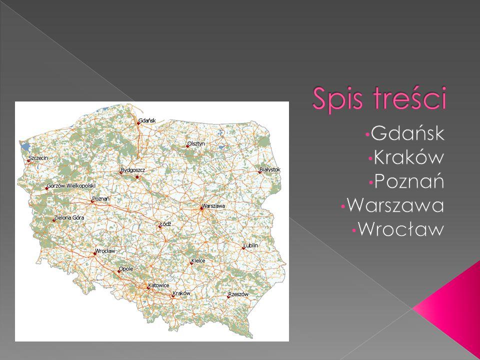  Gdańsk – miasto portowe w Polsce położone nad Morzem Bałtyckim, u ujścia Motławy do Wisły nad Zatoką Gdańską, na Pobrzeżu Gdańskim.