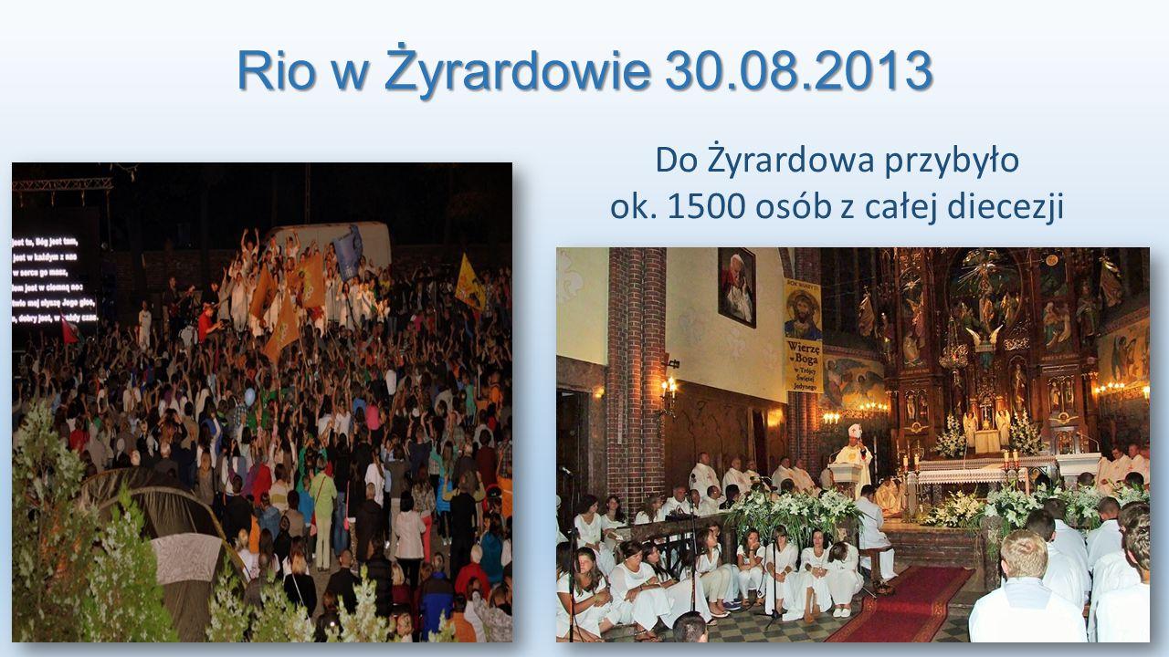 Noc Świętych – Żyrardów 31.10.2013 Na spotkanie przybyło: Ok. 800 osób oraz 30 relikwii Świętych