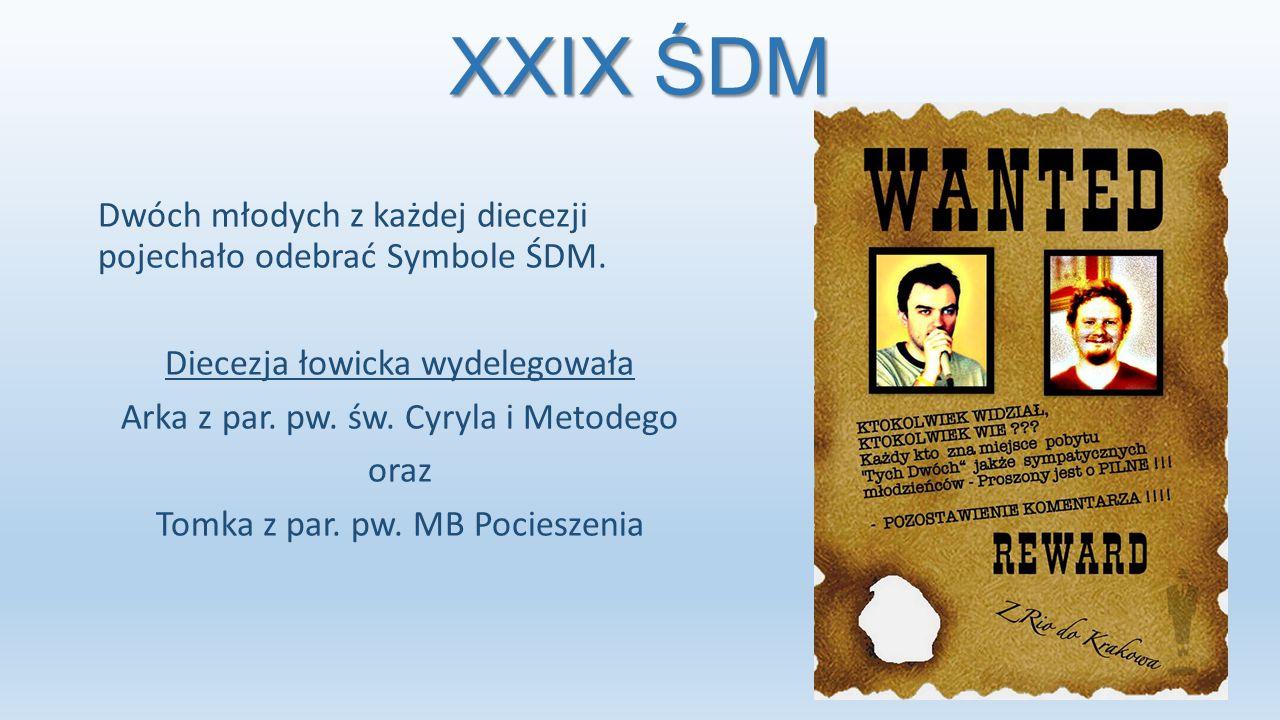 XXIX ŚDM Spotkanie młodychPrzekazanie miniatur symboli ŚDM