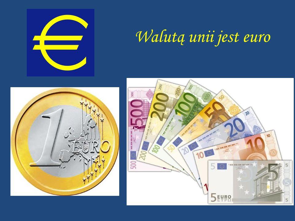 Walutą unii jest euro