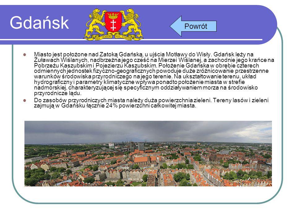 Gdańsk Miasto jest położone nad Zatoką Gdańską, u ujścia Motławy do Wisły. Gdańsk leży na Żuławach Wiślanych, nadbrzeżna jego cześć na Mierzei Wiślane