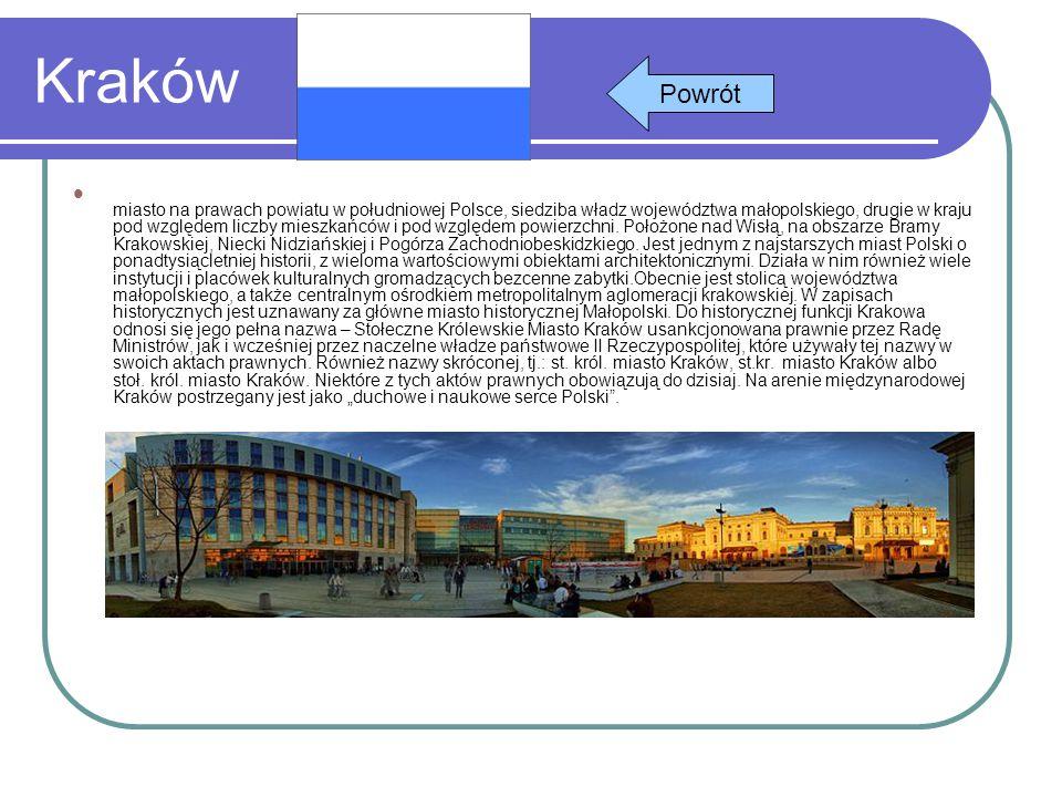 Kraków miasto na prawach powiatu w południowej Polsce, siedziba władz województwa małopolskiego, drugie w kraju pod względem liczby mieszkańców i pod