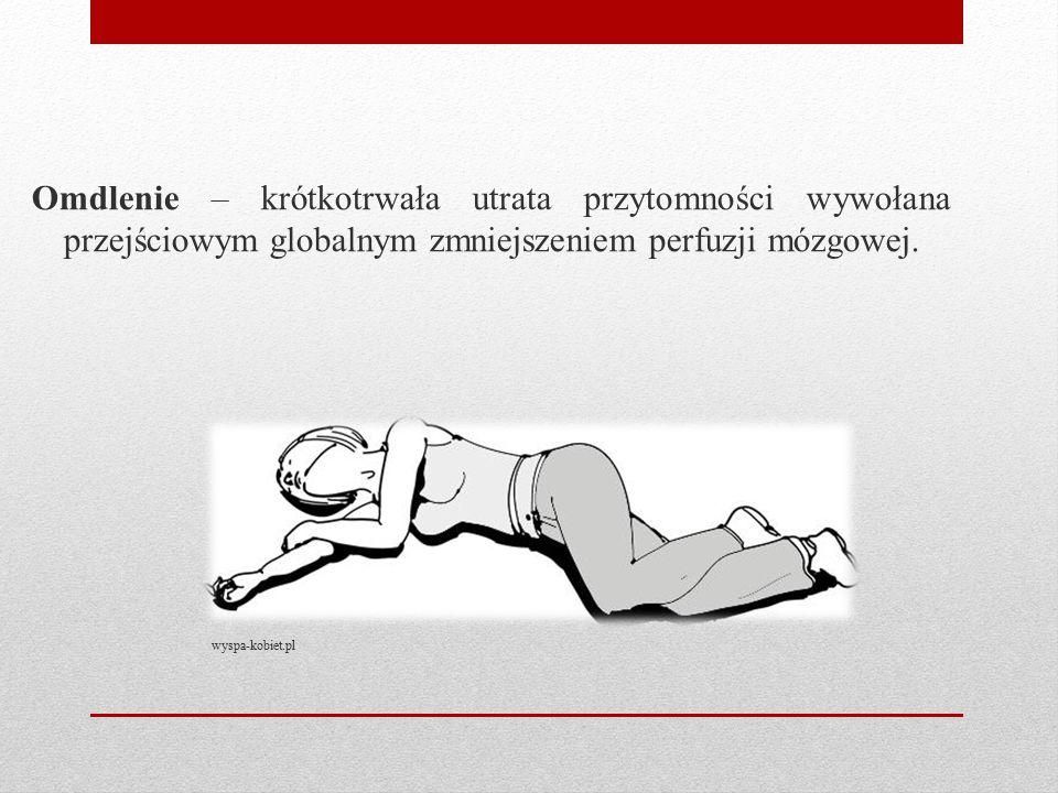 Omdlenie – krótkotrwała utrata przytomności wywołana przejściowym globalnym zmniejszeniem perfuzji mózgowej. wyspa-kobiet.pl