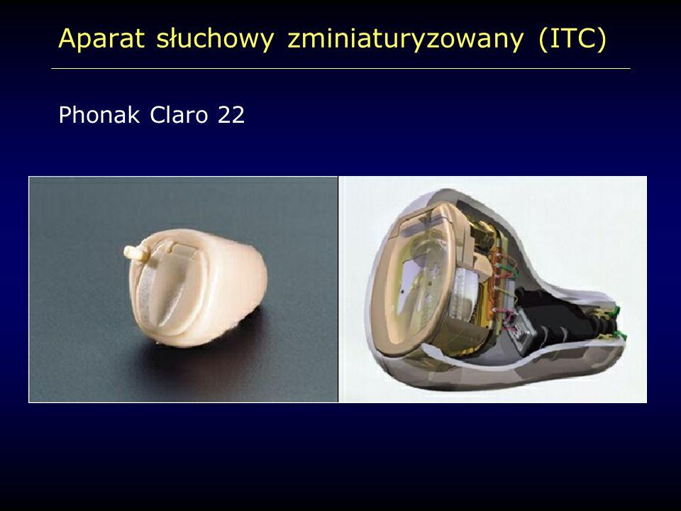Aparat słuchowy zminiaturyzowany (ITC) Phonak Claro 22