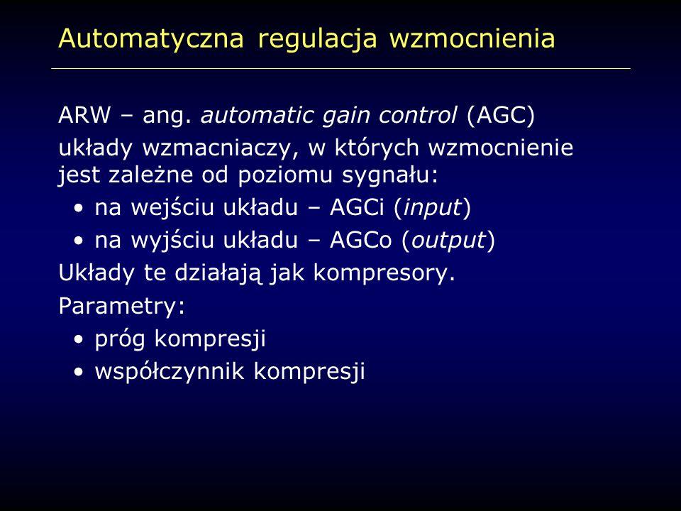 Automatyczna regulacja wzmocnienia ARW – ang. automatic gain control (AGC) układy wzmacniaczy, w których wzmocnienie jest zależne od poziomu sygnału: