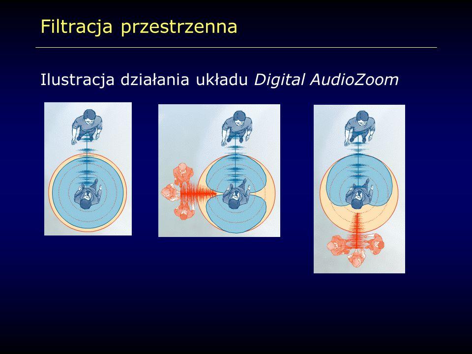 Filtracja przestrzenna Ilustracja działania układu Digital AudioZoom