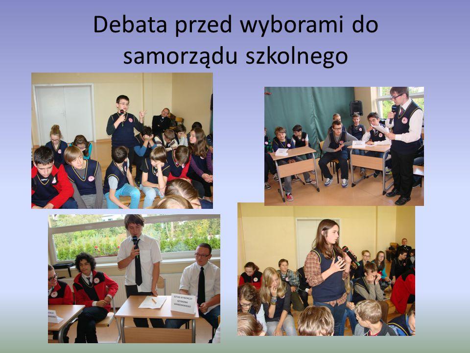 Debata przed wyborami do samorządu szkolnego