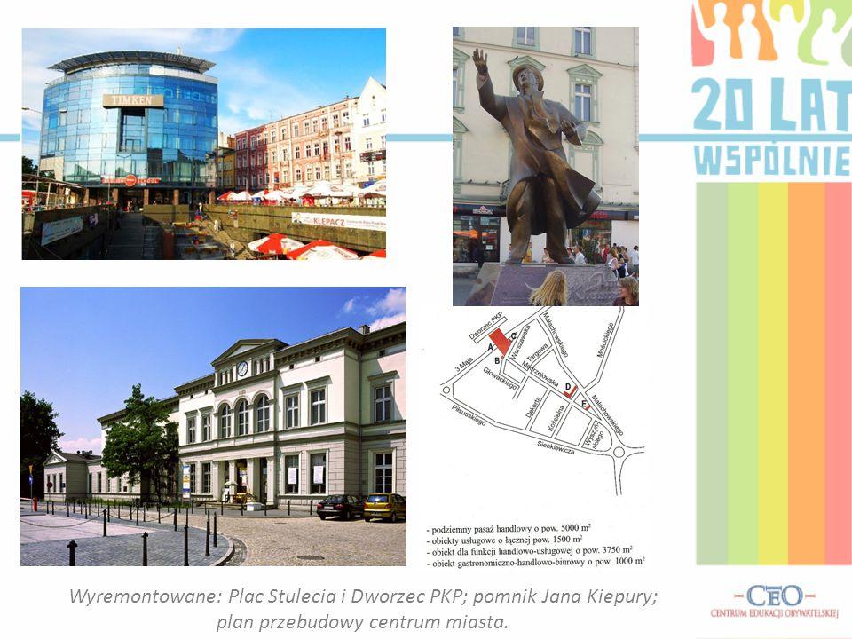 Wyremontowane: Plac Stulecia i Dworzec PKP; pomnik Jana Kiepury; plan przebudowy centrum miasta.