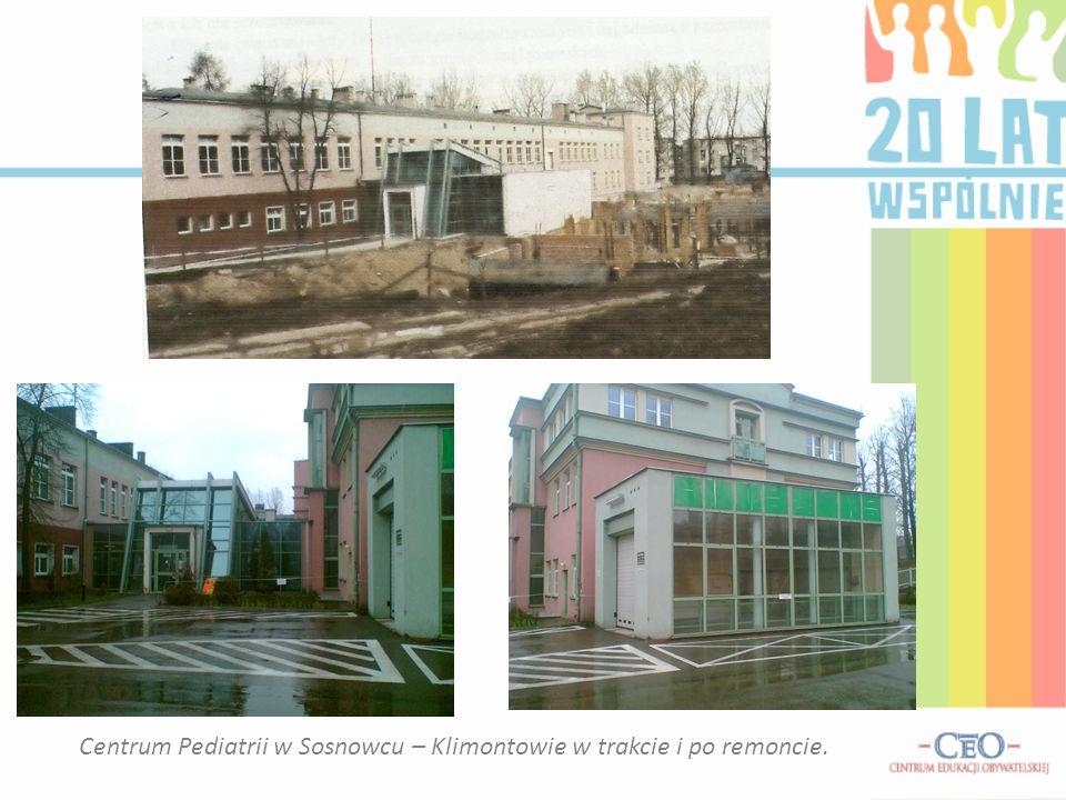 Centrum Pediatrii w Sosnowcu – Klimontowie w trakcie i po remoncie.