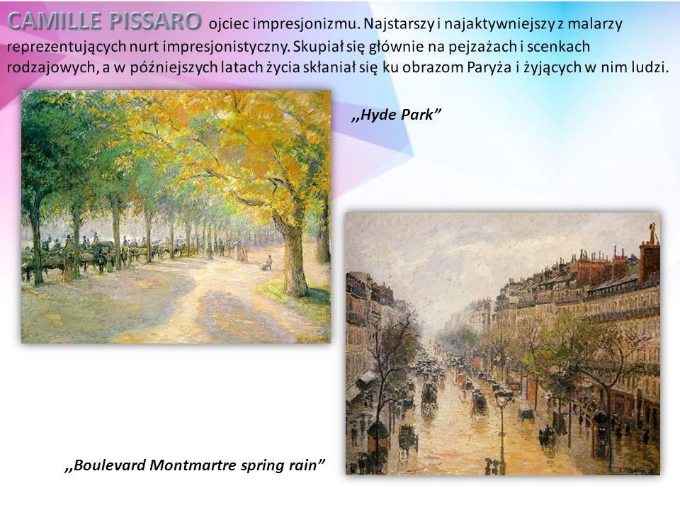 ,,Hyde Park ,,Boulevard Montmartre spring rain