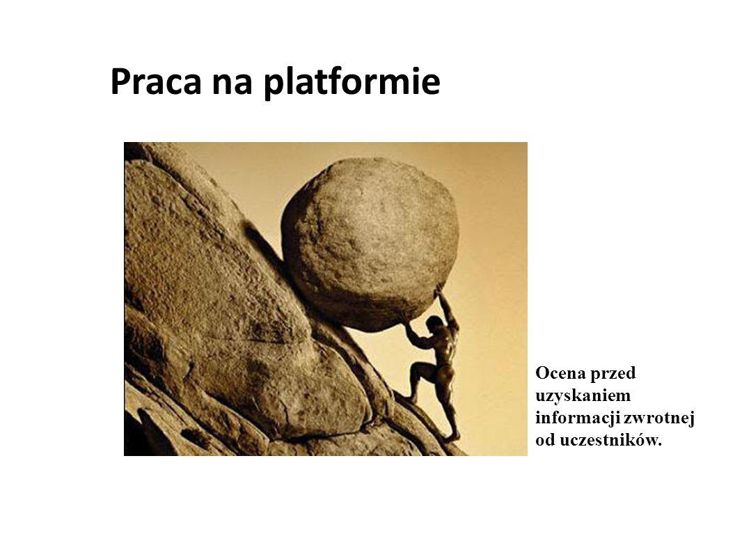 Praca na platformie Ocena przed uzyskaniem informacji zwrotnej od uczestników.