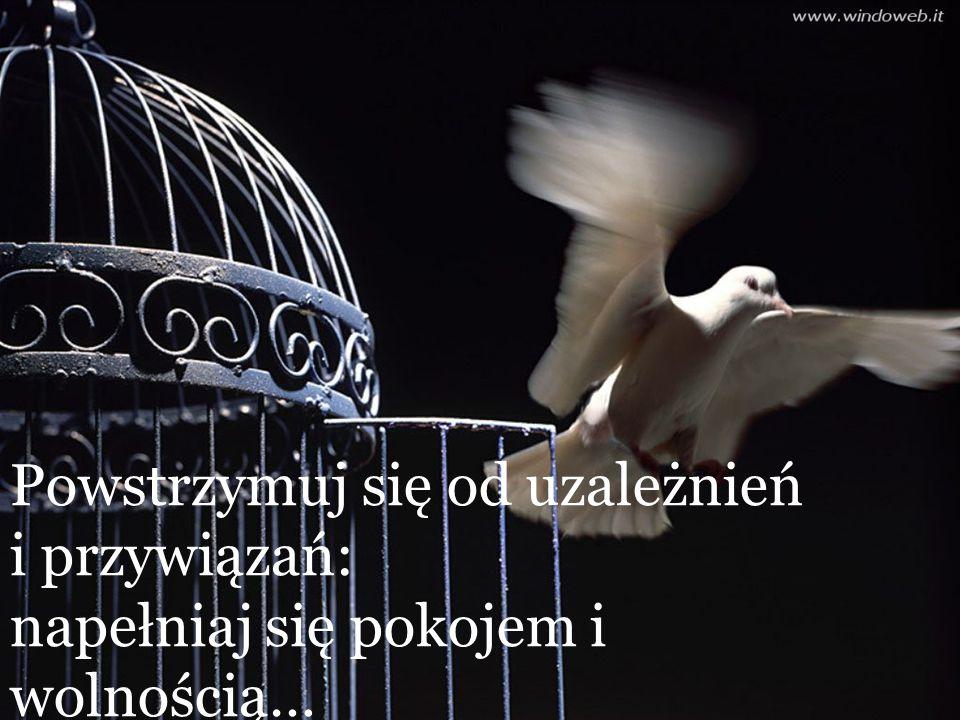 Powstrzymuj się od uzależnień i przywiązań: napełniaj się pokojem i wolnością…